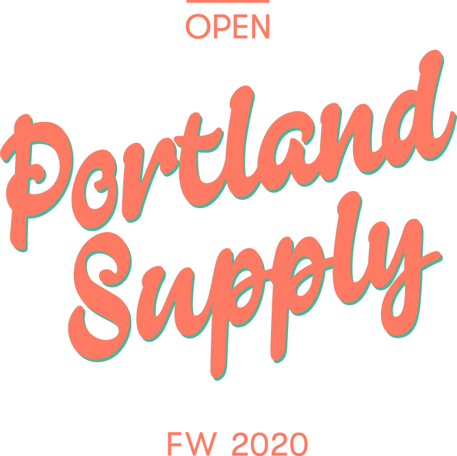 This image has an empty alt attribute; its file name is AO-PortlandSupply_Logo-Transparent_Pink-Green_1-1.png